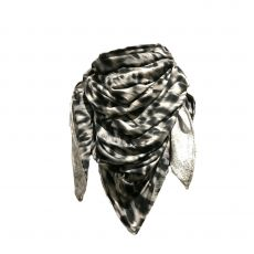 Grey Leopard Print Scarf with Nose Wire & adjustable Ear Loops